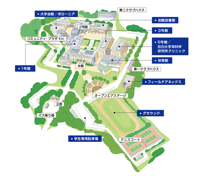 Campus Map of Iwatsuki